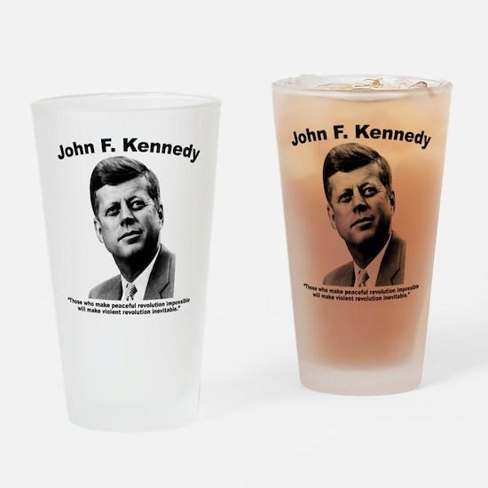 JFK Revolution Drinking Glass