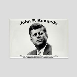 JFK Revolution Rectangle Magnet