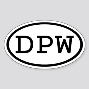 DPW Oval Oval Sticker