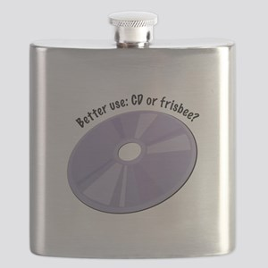Better Use:CD Or Frisbee? Flask