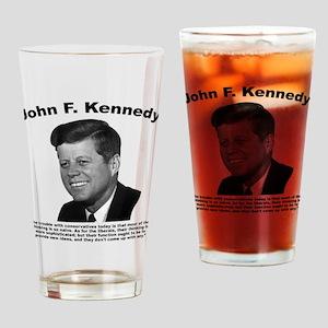 JFK Conservatives Drinking Glass