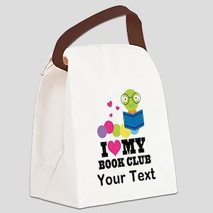 I Love My Book Club Canvas Lunch Bag