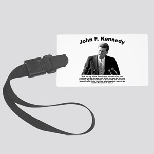 JFK Ask Not Large Luggage Tag