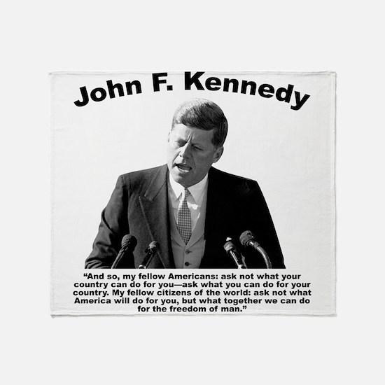JFK Ask Not Throw Blanket