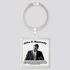 JFK Ask Not Square Keychain