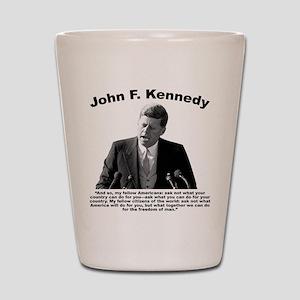 JFK Ask Not Shot Glass
