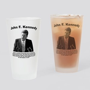 JFK Ask Not Drinking Glass