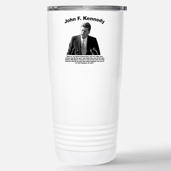 JFK Ask Not Stainless Steel Travel Mug