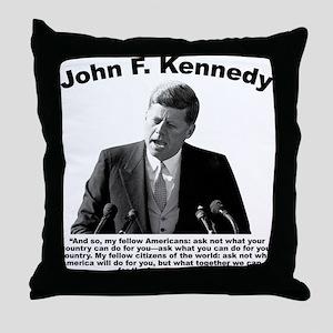 JFK Ask Not Throw Pillow