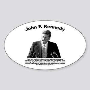 JFK Ask Not Sticker (Oval)