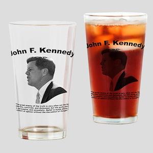 JFK Truth Drinking Glass