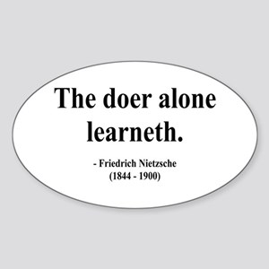 Nietzsche 14 Oval Sticker