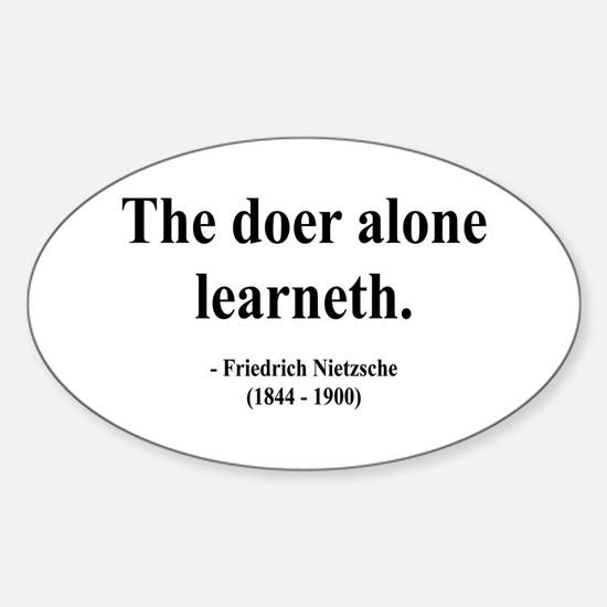 Nietzsche 14 Oval Decal