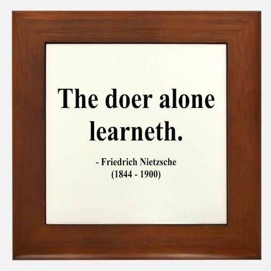 Nietzsche 14 Framed Tile