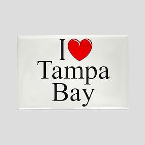 """I Love Tampa Bay"" Rectangle Magnet"