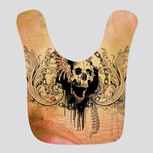 Awesome skull with crow and bones Polyester Baby B