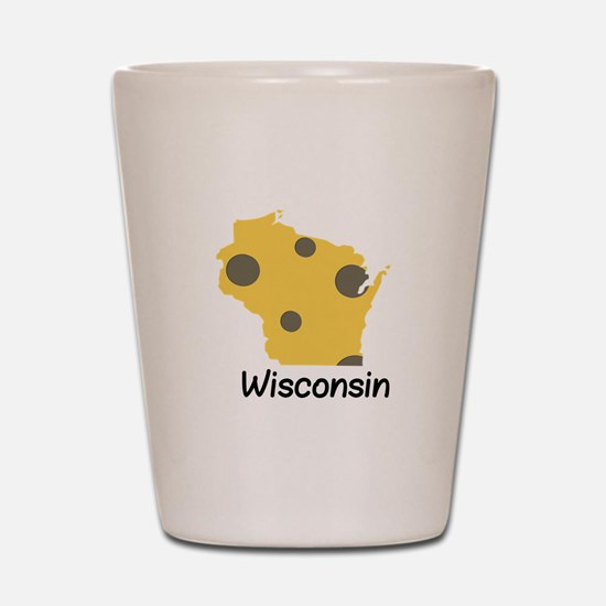 State Wisconsin Shot Glass