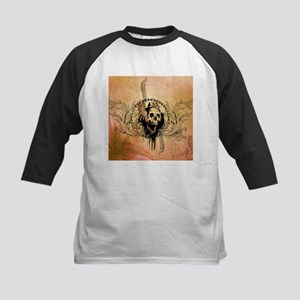 Awesome skull with crow and bones Baseball Jersey