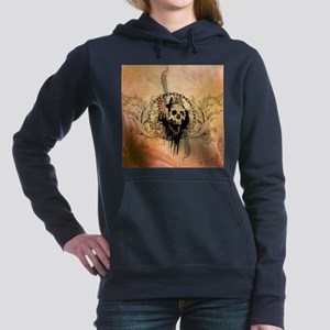 Awesome skull with crow and bones Sweatshirt