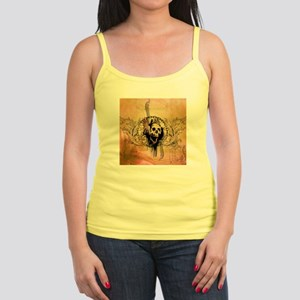 Awesome skull with crow and bones Tank Top