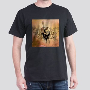 Awesome skull with crow and bones T-Shirt