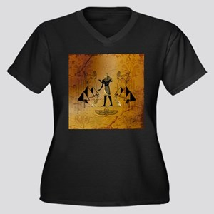 Anubis the egyptian god with pyramid Plus Size T-S