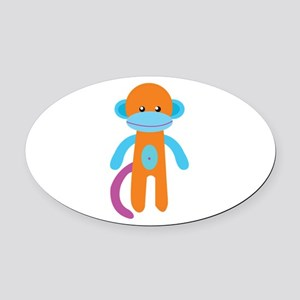 Monkey Toy Oval Car Magnet