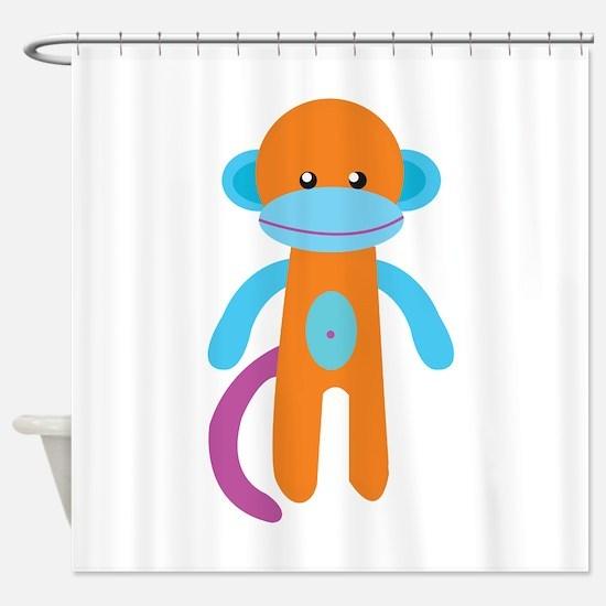 Monkey Toy Shower Curtain