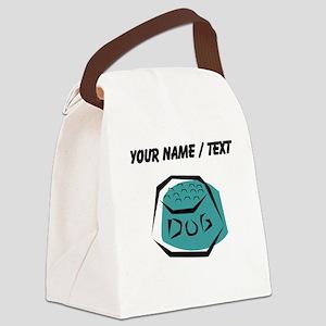 Dog Dish (Custom) Canvas Lunch Bag
