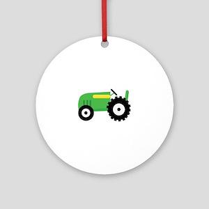 Farming Tractor Ornament (Round)