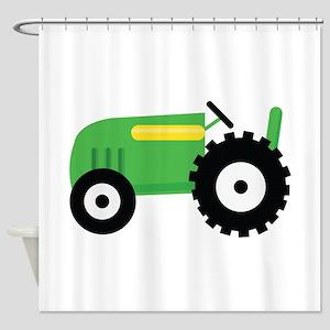 Farming Tractor Shower Curtain