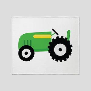 Farming Tractor Throw Blanket