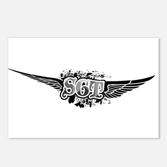SGT Winged Postcards (Package of 8)
