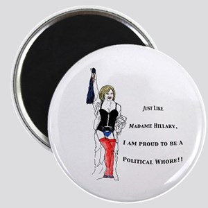 Whores 4 Hillary Magnet