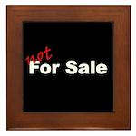 Not For Sale Framed Tile