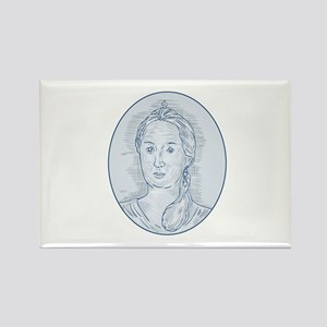 18th Century Russian Empress Bust Oval Drawing Mag
