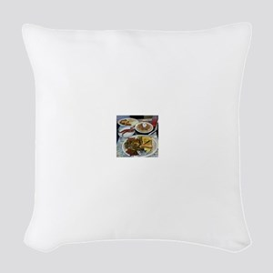 Waffle House Woven Throw Pillow