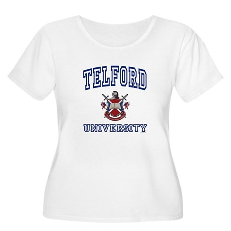 TELFORD University Women's Plus Size Scoop Neck T-