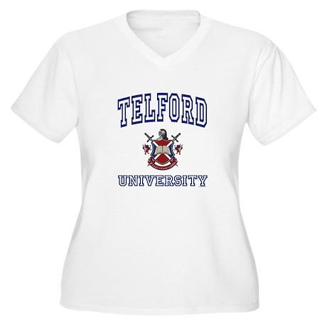 TELFORD University Women's Plus Size V-Neck T-Shir