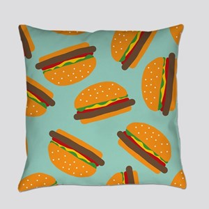 Cute Burger Pattern Master Pillow