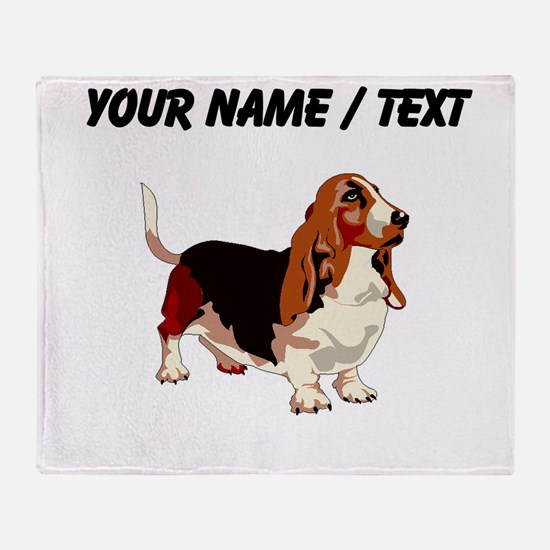 Basset Hound (Custom) Throw Blanket