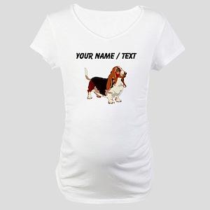 Basset Hound (Custom) Maternity T-Shirt