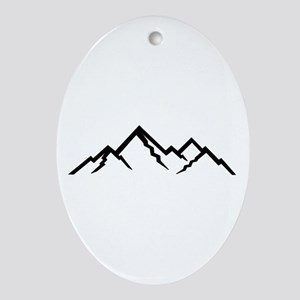 Mountains Ornament (Oval)