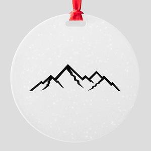 Mountains Round Ornament
