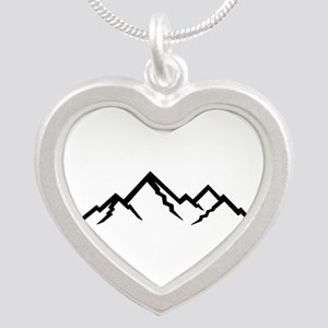 Mountains Silver Heart Necklace