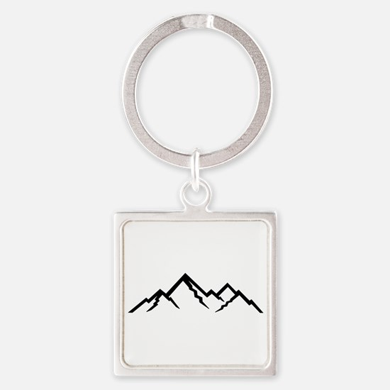 Mountains Square Keychain