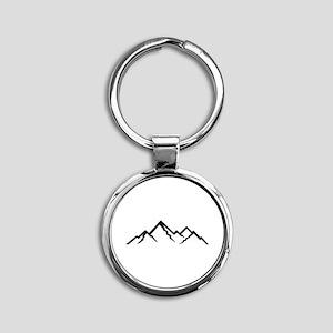Mountains Round Keychain