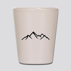 Mountains Shot Glass