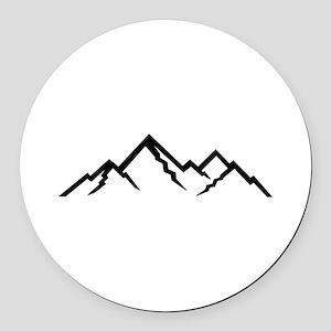 Mountains Round Car Magnet
