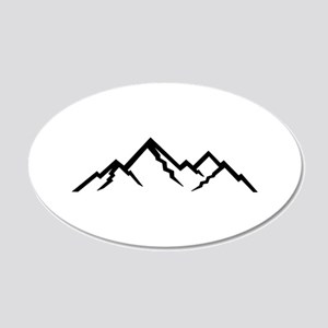 Mountains 20x12 Oval Wall Decal